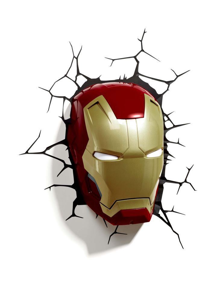 Marvel Iron Man 3 Mask 3d Light Merchandise Zavvi