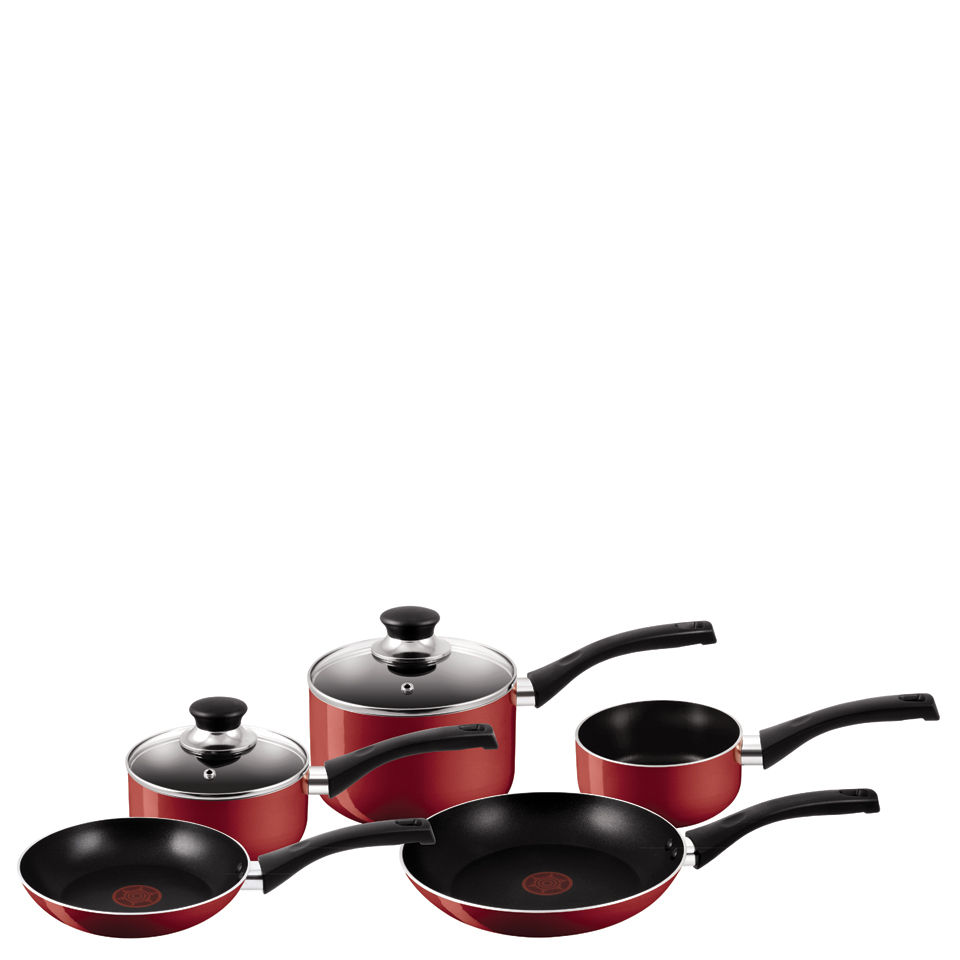 tefal-a161s545-bistro-red-5-piece-set