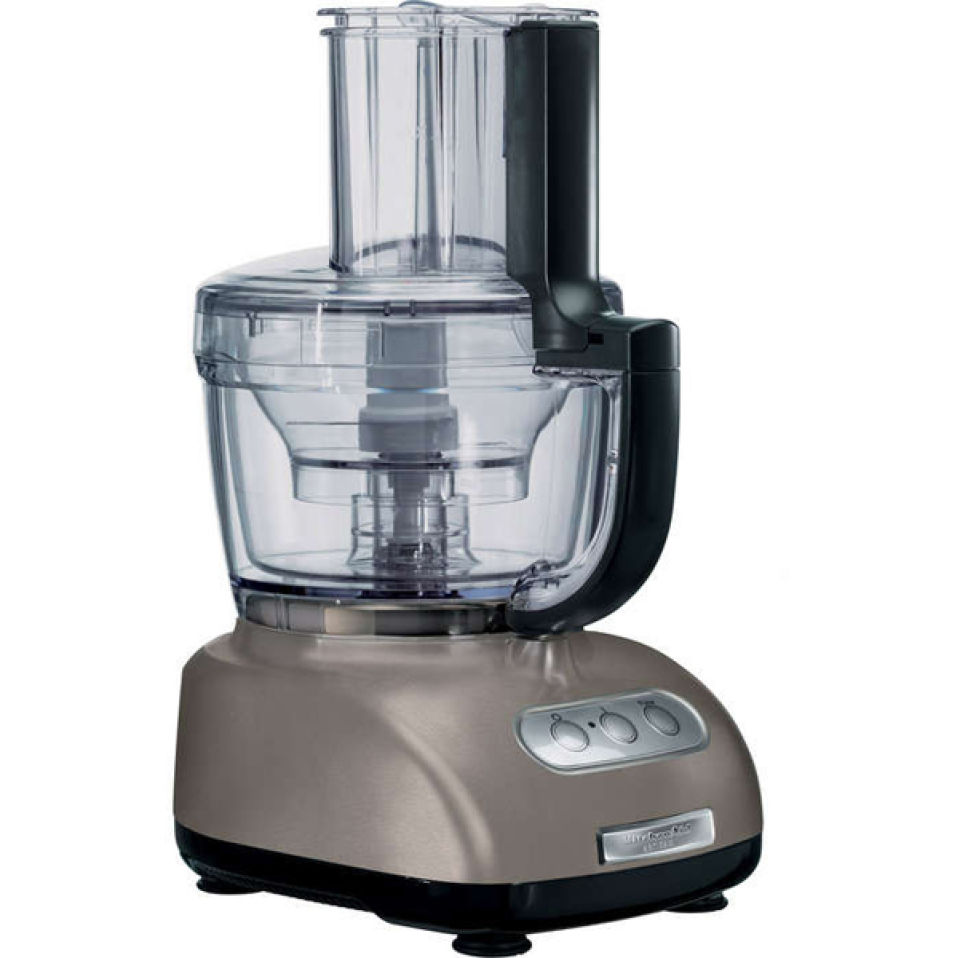 Black And Silver Kitchen Appliances: Kitchenaid Food Processor - Cocoa Silver Homeware