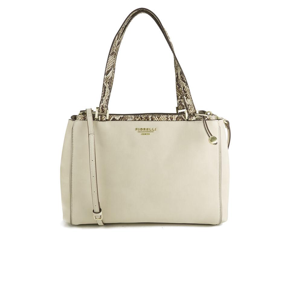 Fiorelli Women s Sophia Large Shoulder Bag - Soft White Snake Mix Clothing   559851a9ca46c