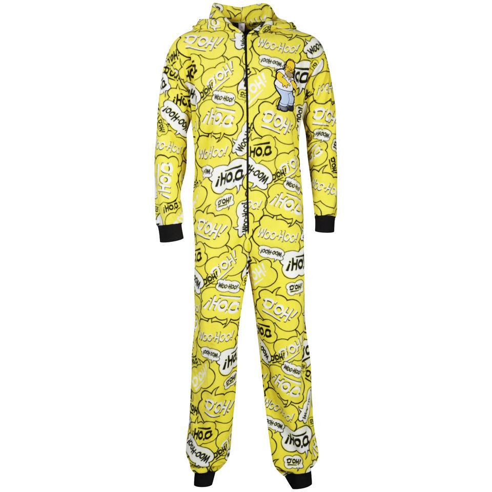 75c5cd8cd3d Homer Simpson Men s Printed Onesie - Yellow Clothing