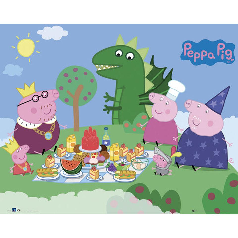 peppa-pig-princess-picnic-mini-poster-40-x-50cm