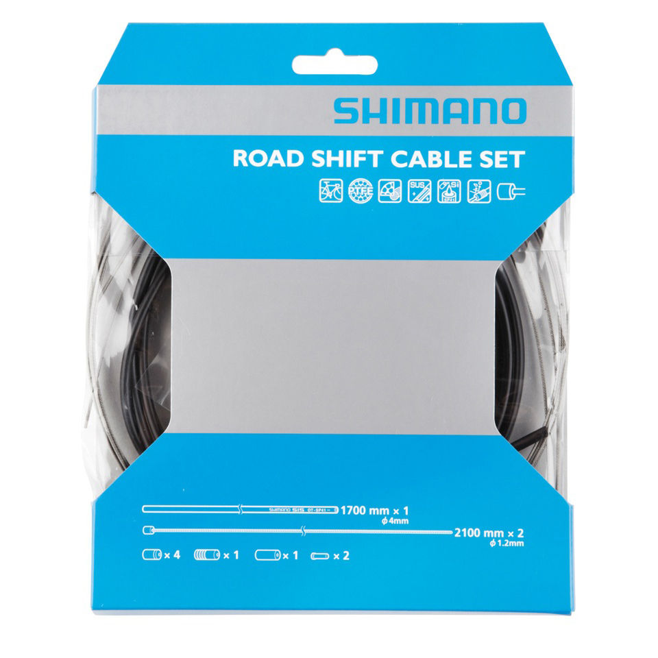 shimano-road-gear-cable-set-with-ptfe-coated-inner-one-size-black