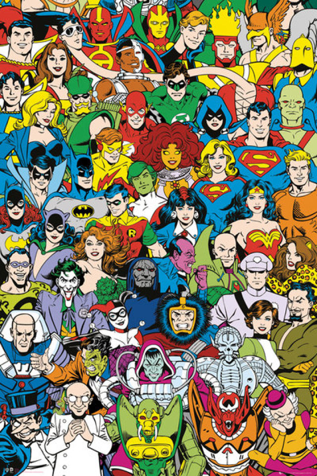 dc-comics-retro-cast-maxi-poster-61-x-915cm