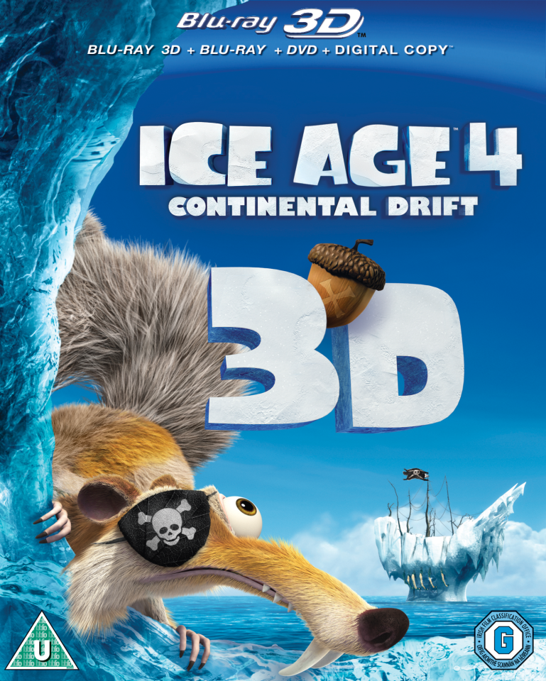 ice age 4  continental drift 3d  includes 2d blu