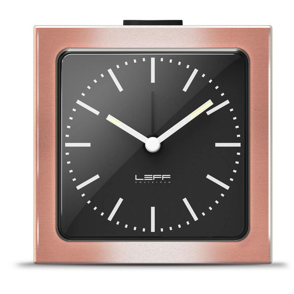 leff-amsterdam-block-alarm-clock-bronze