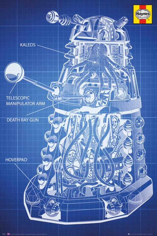 doctor-who-haynes-dalek-blueprint-maxi-poster-61-x-915cm