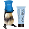 men-ü Barbiere Shave Brush and Stand - Blue: Image 1