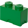 LEGO Storage Brick 2- Dark Green: Image 1