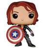 Marvel Avengers: Age of Ultron Black Widow with Cap's Shield Limited Edition Pop! Vinyl Figure: Image 1