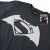 DC Comics Men's Batman v Superman Logo T-Shirt - Dark Heather: Image 3