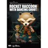 Beast Kingdom Marvel Guardians of the Galaxy Egg Attack Rocket Raccoon with Dancing Groot 4 Inch Figure: Image 3