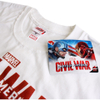 Marvel Men's Captain America Civil War Stance T-Shirt - White: Image 3