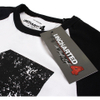 Uncharted 4 Men's Distressed 4 Long Sleeve Raglan Top - White/Black: Image 3