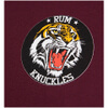 Rum Knuckles Men's Tiger T-Shirt - Burgundy: Image 3