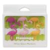 Flamingo Glass Charms: Image 3