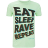 Fat Boy Slim Men's Eat Sleep Rave Repeat T-Shirt - Mint: Image 1