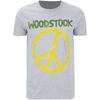 Woodstock Men's Stitch Peace Sign T-Shirt - Sport Grey: Image 1