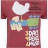 Woodstock Men's 3 Days of Peace T-Shirt - Heather Cardinal: Image 3