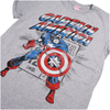 Marvel Men's Captain America Retro T-Shirt - Sports Grey: Image 2