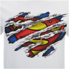 DC Comics Men's Superman Torn Logo T-Shirt - White: Image 5