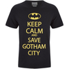 DC Comics Men's Batman Keep Calm T-Shirt - Black: Image 1