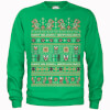 Nintendo Super Mario Happy Holidays The Bad Guys Green Christmas Sweatshirt: Image 1