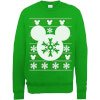 Disney Mickey Mouse Christmas Snowflake Silhouette Green Christmas Sweatshirt: Image 1