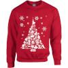 Star Wars Character Christmas Tree Red Christmas Sweatshirt: Image 1