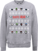 DC Comics Suicide Squad Character Faces Grey Christmas Sweatshirt: Image 1