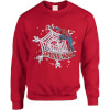 Marvel Comics The Amazing Spiderman Snowflake Web Red Christmas Sweatshirt: Image 1