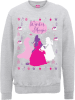 Disney Princess Christmas Princess Silhouettes Grey Christmas Sweatshirt: Image 1
