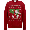 Disney Mickey Mouse Christmas Tree Mickey Red Christmas Sweatshirt: Image 1