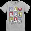 Star Wars The Last Jedi Light Side Kid's Grey T-Shirt: Image 1