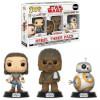 Star Wars The Last Jedi Good Guys EXC Pop! Vinyl Figure 3-Pack: Image 1
