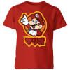 Nintendo Super Mario Mario Kanji Kids' T-Shirt - Red: Image 1