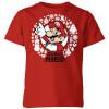 Nintendo Super Mario White Wreath Kids' T-Shirt - Red: Image 1
