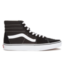 Vans Men's Sk8-Hi Canvas Hi-Top Trainers - Black/White - UK 11