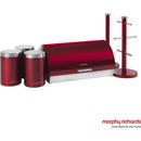 Morphy Richards 974100 6 Piece Storage Set  Red