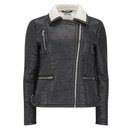 ONLY Women's Biker Jacket - Black - XS/UK 4