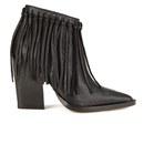 By Malene Birger Women's Ounni Leather Tassel Ankle Boots - Black