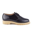YMC Mens Solovair Sole Quilted Leather Apron Shoes  Navy  UK 6