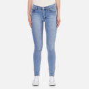 Cheap Monday Womens Second Skin High Waisted Skinny Jeans  Stonewash Blue  W27L30