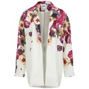 ONLY Women's Elaine Floral Spring Coat - Cloud Dancer - M/UK 10