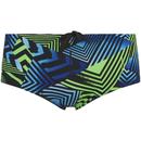 Zoggs Men's Optic Sport Swim Briefs Black-Green-Blue W28