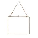 "Nkuku Kiko Antique Brass Glass Frame - Landscape 8 x 10"""