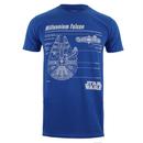 Star Wars Men's Millennium Falcon Blueprint T-Shirt - Royal