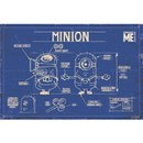 Despicable Me Minion Blue Print - 24 x 36 Inches Maxi Poster