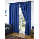 Dreamscene Blackout Pencil Pleat Curtains  Blue  90x54 Inches