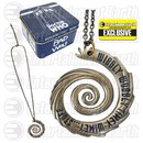 Doctor Who Wibbly Wobbly Vortex Entertainment Earth Exclusive Gold Pendant Necklace